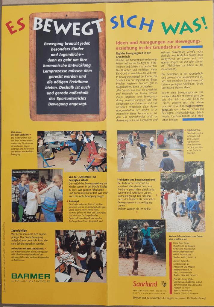 Plakat aus dem Jahr 1996 zur Aktion es bewegt sich